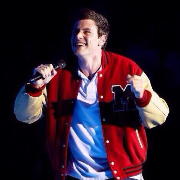 glee jacket jersey cory monteith