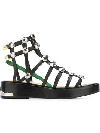 heel sandals black shoes