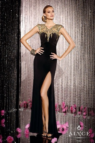 dress prom dress prom gown long prom dress black dress black prom dress cap sleeve dress long dress ball gown dress chic