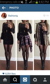 coat,shoes,automne,beautiful,pretty,bag,jewels,shirt,dress,earphones,blouse,black boots,ankle boots,little black dress,short dress,black dress,velvet dress,black,bodycon dress,jacket,flannel shirt,military style,jewelry,jeans,spring,winter outfits,fall outfits,green jacket,hat