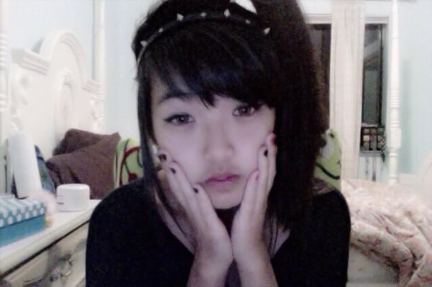 hat goth creepy cute creepy kawaii creepy kawaii headpiece spikes pleather