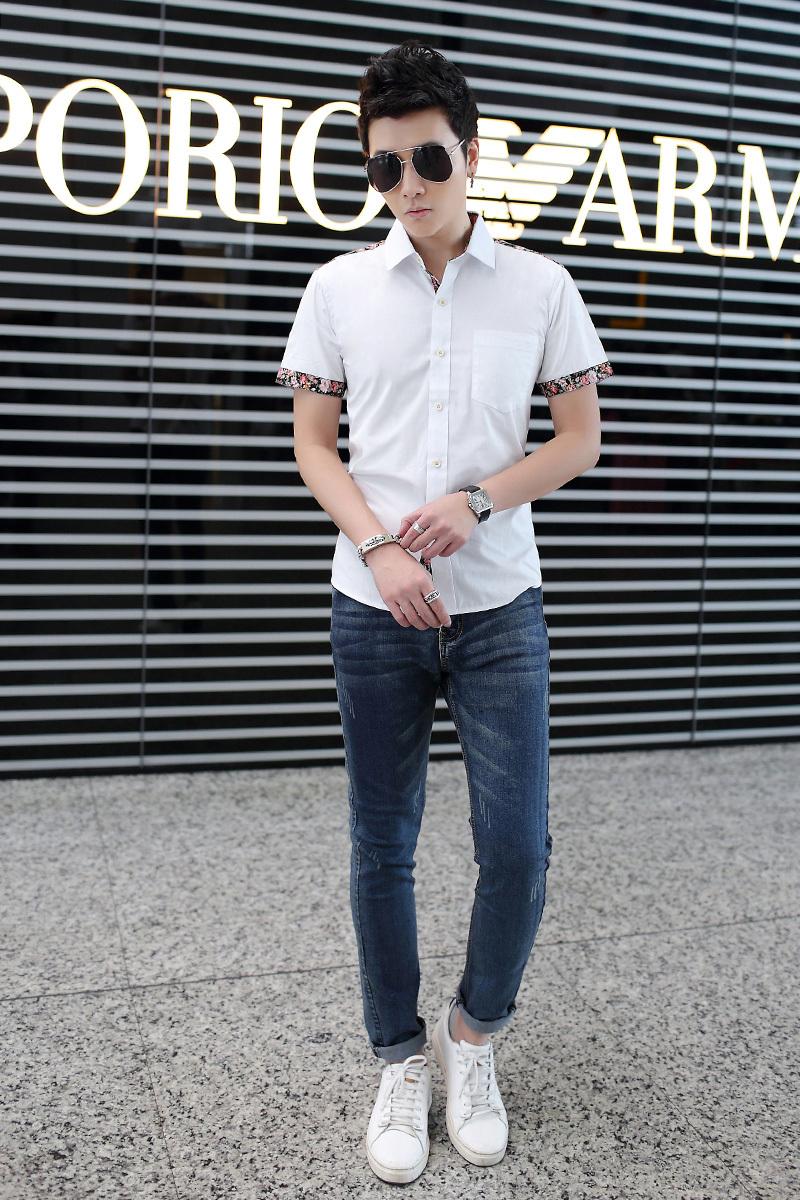 Aliexpress.com   Buy Casual summer wear short sleeved shirt young cotton short  sleeve shirt 027734ab1