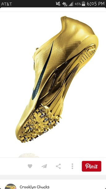 shoes track and field mens sportswear sports shoes nike gold metallic shoes