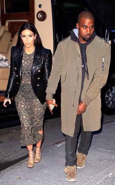 jacket black kim k jacket kim kardashian
