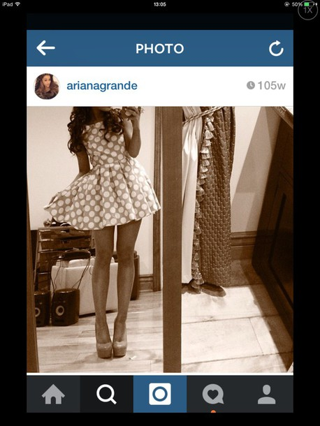dress ariana grande spotty