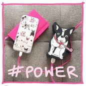 phone cover,yeah bunny,frenchie,dog,iphone,power,cute,powerbank,frenchbulldog