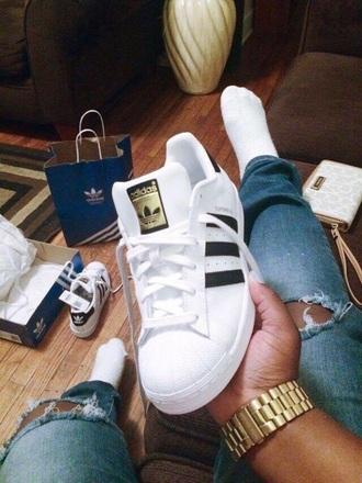 shoes adidas originals adidas white adidas superstars classic gold men's adidas shoes