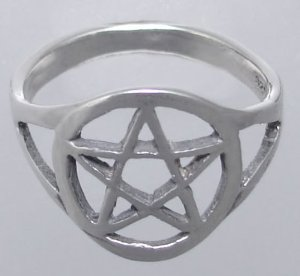 Amazon.com: sterling pentagram ring...just the right size and made in america: right hand ring: jewelry