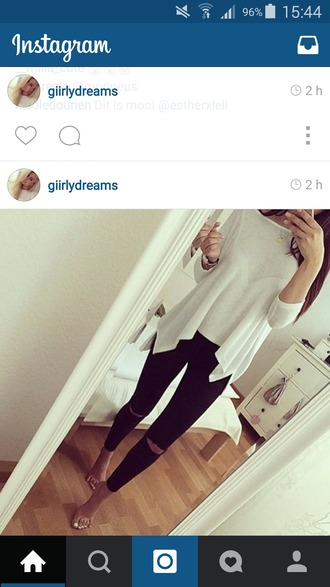 shirt pullover white t-shirt volants grey sweater spring