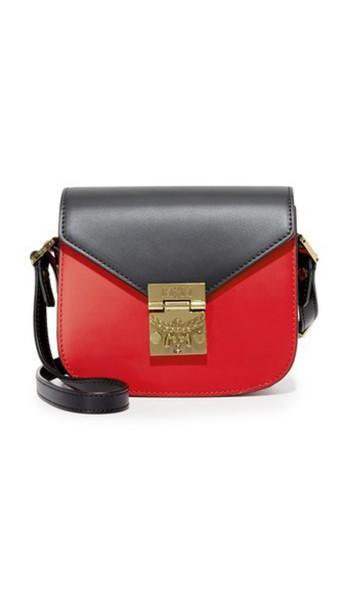 MCM bag black red