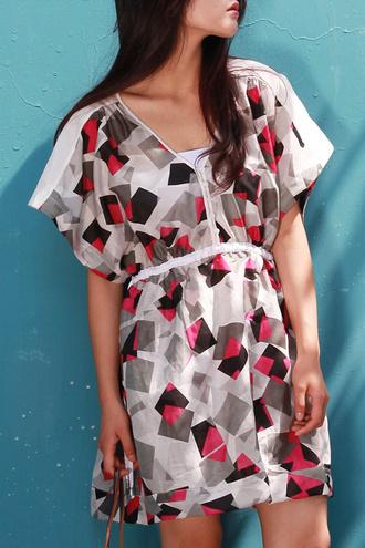dress dezzal print chiffon chic beach summer dress fashion