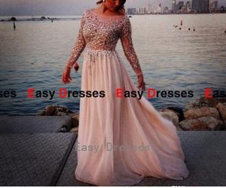 dress creme dress prom dress long prom dress