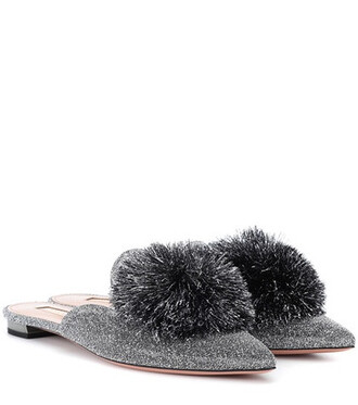 slippers silver shoes