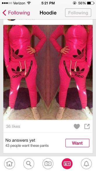 pink adidas adidas sweats adidas neon zip jeans
