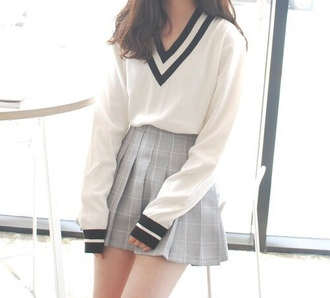 sweater varsity sweater korean fashion asian fashion kawaii varsity