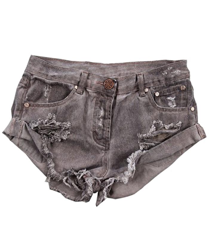 Original grey rolledup bf shorts