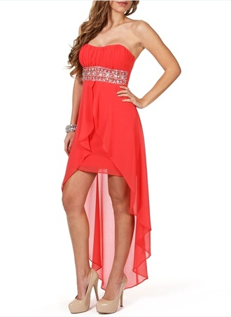 dress pink dress diamante dress formal dress