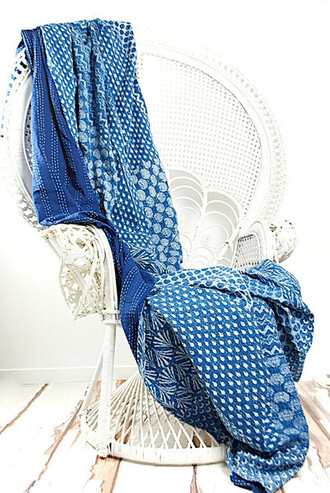 home accessory kantha quilt queen bedspread indigo bedspread queen bedcover handmade throw sofa throw queen blanket indian bedspread bedsheet bedroom living room blue blue and white