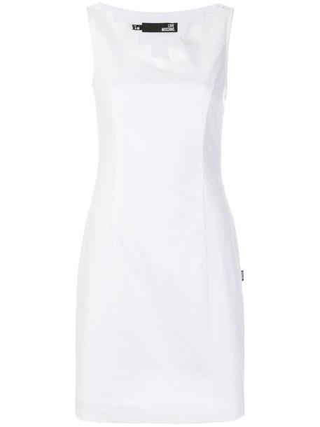 dress short women spandex white cotton