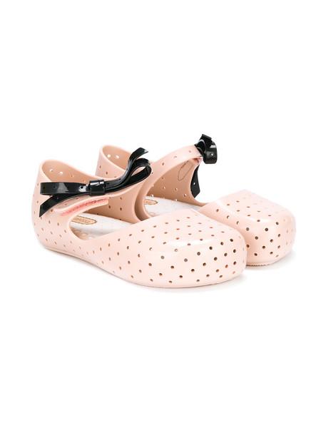 MINI MELISSA bow plastic nude shoes