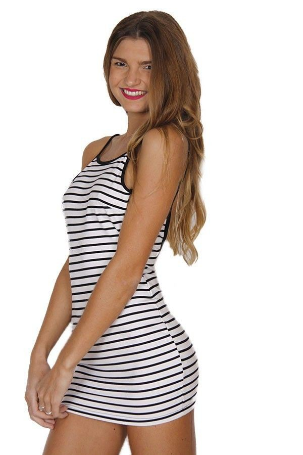 black and white stripes bodycon dress open back dresses black and white dress stretch fabric dress www.ustrendy.com