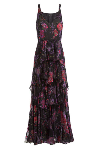 dress floral print silk multicolor
