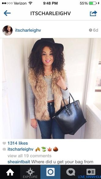 light brown fur vest faux fur