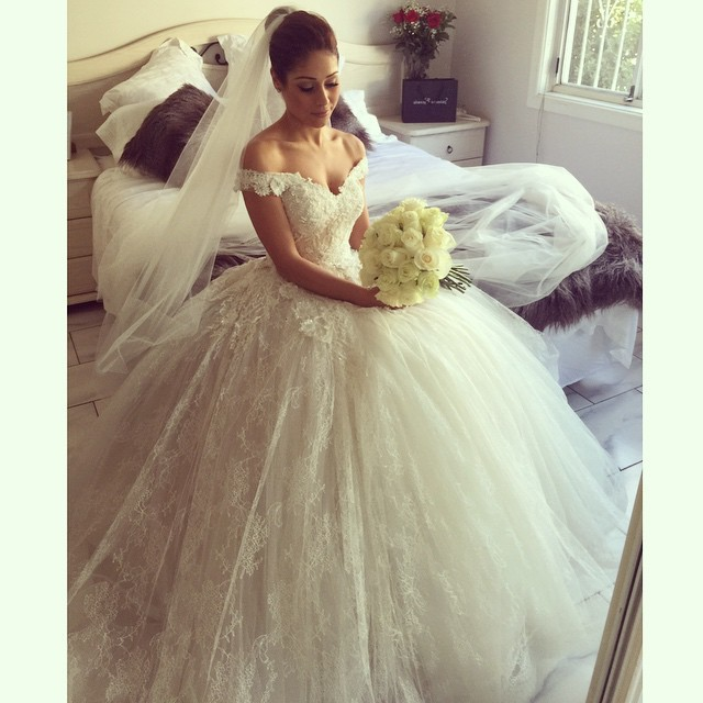 Puffy Wedding Dress