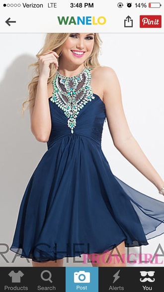 dress dark dress dark blue high neck homecoming homecoming dress prom prom dress short dress blue dress blue long prom dress backless prom dress