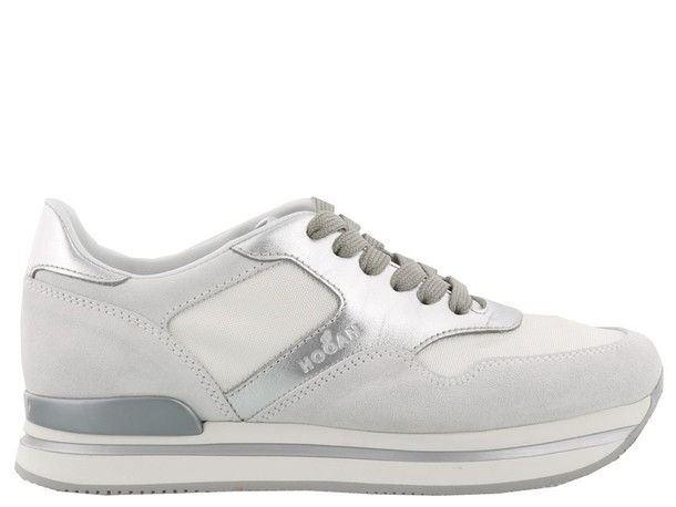 Hogan sneakers silver white shoes