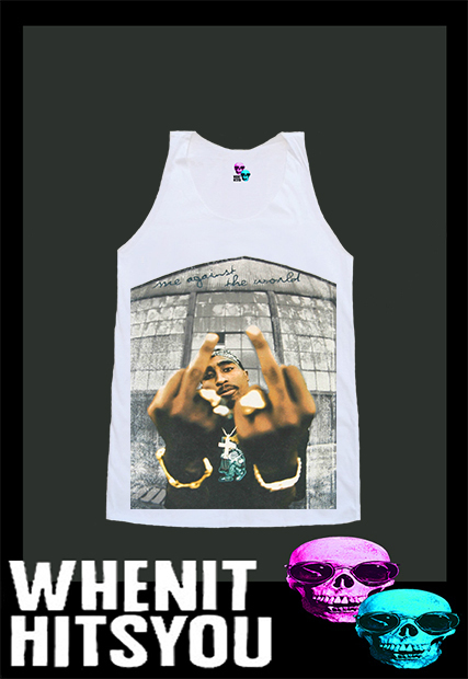 Tupac amaru shakur 2pac shirt tshirt singlet vest r10185 tank top