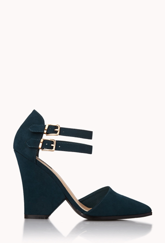 Modernist Buckled Heels | FOREVER21 - 2000110741