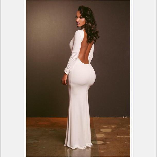 booty, white dress, dress, hairstyles, lola monroe, fashion, long ...