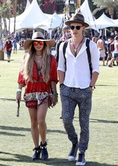 dress,red,vanessa hudgens,romper,coachella,hat,shirt,hippie,gypsy,boho,jumpsuit,bohemian,indie,tribal pattern,and shoes,jumper,top,fashion,blonde hair,vanessa hudgens playsuit sun glasses hat red boho tribal,cute dress,summer dress,summer outfits,festival dress,blouse,shoes,black,indian boots,cool,crotchet coachella hippy boho corset,sweet,amazing,flawless,dream,noah,new york city,coach,jeans,boho patterns shorts,jewels,vannessa hudgens,coachella dress,boho dress,coachella style,pants,print,hair accessory,home accessory,austi butler