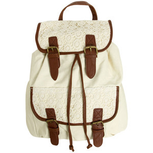 Fashion Cute Vintage Women Crochet Lace Trim Backpack Satchel ...