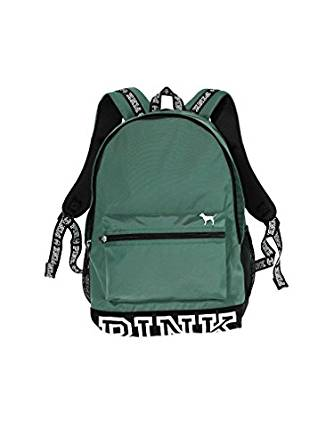 3027aa13c2 Amazon.com  Victoria s Secret PINK Campus Backpack Granite Green ...