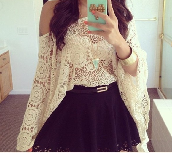 blouse hippie crochet top bohemian ebony lace ebonylace-streetfashion