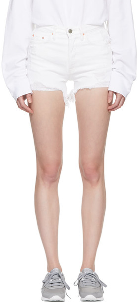 GRLFRND shorts denim white