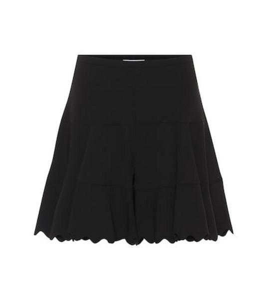 Chloé High-rise crêpe shorts in black