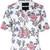 House Of Holland roses print shortsleeved shirt, Women's, Size: 12, White, Cotton/Spandex/Elastane