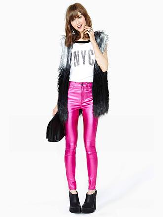 pink pants pants cute skinny pants lovely