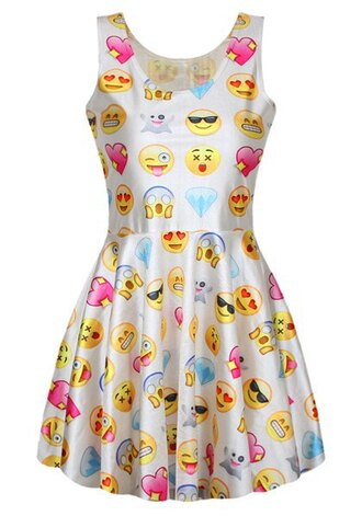dress sammydress emoji print top bottoms clothes skirt cute dress summer dress funny beautiful fashion girly streetstyle outfit cami