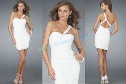 2011 neueste sexy weiß liebsten cocktailkleider, kurzen abendkleid, mode party kleid ce065