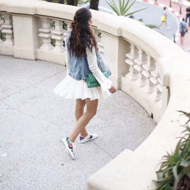 4a04a3baea7 shoes gucci ace sneakers gucci gucci shoes floral sneakers low top sneakers  white sneakers dress white