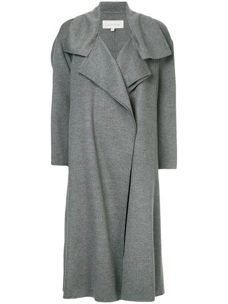 coat women wool grey