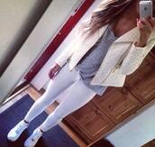 jacket,white,quilted,leather,leather jacket,biker,bikerjacket,quilt,lovely