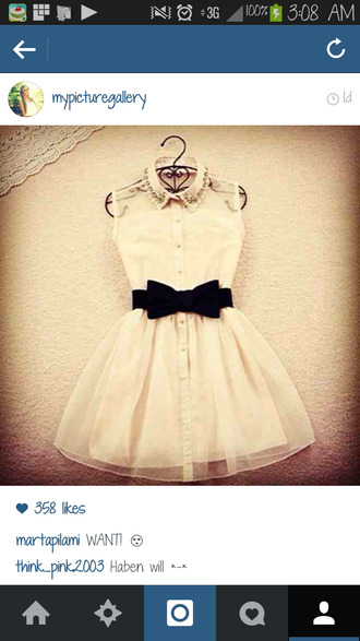 dress bows white jewels button down black collar see through layer instagram