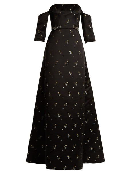 Erdem gown strapless satin black dress