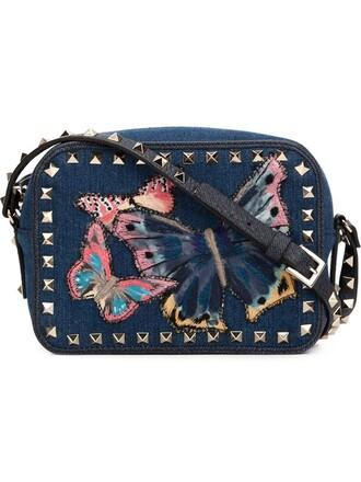 butterfly bag shoulder bag blue