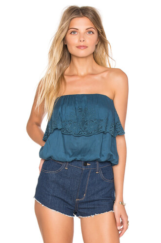 top tube top blue